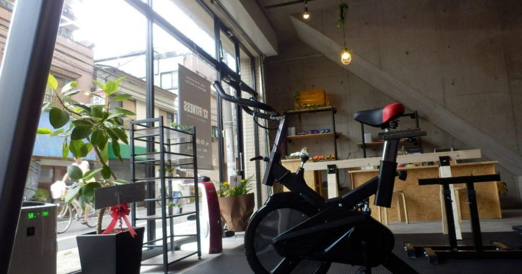 121FITNESSジム内フィットネスバイク